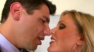 Julia Ann Gets Rubbed By Her New Student