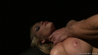Bound slavegirl getting tied up and fucked and telling about it