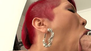 Sexy And Passionate Redhead Bitch Named Kayla Carrera Sucks A Big And Strong Dick