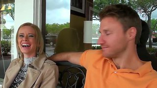Pretty And Sexy Blonde Was Pick Uped In The Local Cafe And Becomes Naughty In The Car