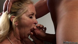 Older lady annabelle brady still loves to gag