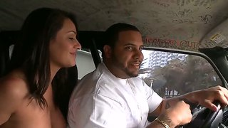 Charley Chase Is Picked Up By Bang Bus Members