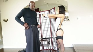 Delicious Asa Akira And Lexington Steele Playing Danger Game