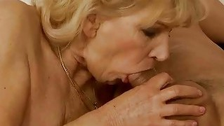 Grandma Enjoys Hot Sex With Her Young Lover