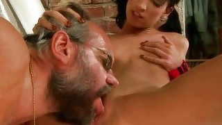 Grandpa And Teen Fucking And Pissing