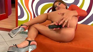 Jasmine Rouge Fucking With A New Dildo So Passionately Like It Is Her Husband's Cock