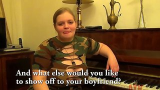 Heavy Chested Blonde Teen Yada Has Interview