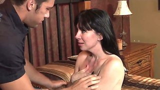 The Attractive Brunette Pornstar Rayveness Gets Seduced By The Young Johnny Castle