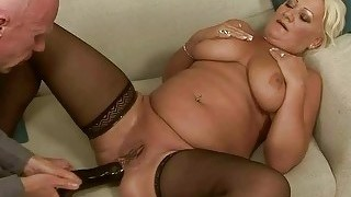 Fat Grandma Gets Her Ass Fucked