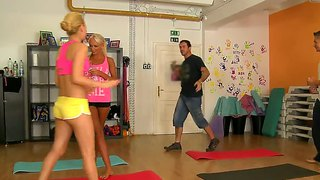 Aleska Diamond And Ivana Sugar Do Naughty Yoga