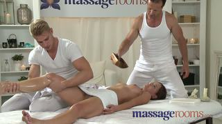 Massage Rooms Young Teen Takes Two Big Cocks In A Massage