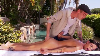 Having A Massage Done Brandy Aniston Is Fucking With Her Friend