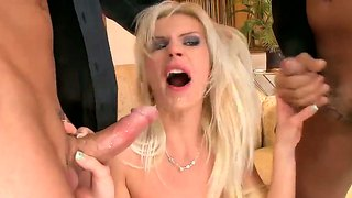 Blonde Bea Stiel Pumped By Two Big Pistons