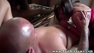 Real euro hooker sucking on cock for this very lucky guy