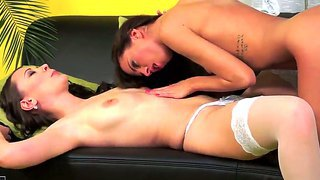 Innocent Sandy Ambrosia Preparing To Be Fingered By Her Friend