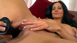 Busty Milf Ava Addams Playing With A Dildo And A Cock