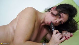 European milf savannah playing alone