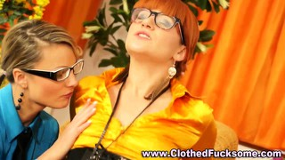 Clothed Glasses Facial Cumshot