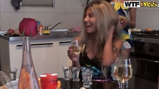 College party with berta,  lerok,  lina,  lucille,  nora,  tiffany