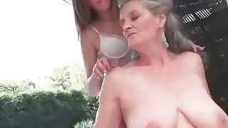 Cute Teen Brunette Loves Busty Grandma