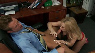 Samantha sin needs to get a credit very urgent and the best way to get it is to fuck with her boss