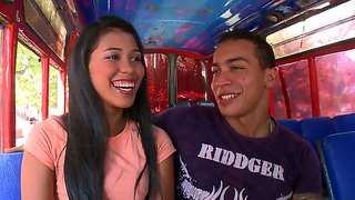 Gorgeous Latino Carolina Is Fucking With A Handsome Guy