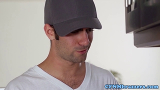 Cfnm Pornstars Drink His Cum Together