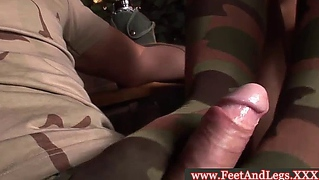 Footjob Candy Jizzed On Her Socks