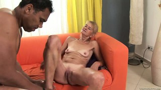 68 year old granny gets her game on and fucks with a big black rod