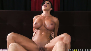 Jewels jade with massive hooters and hard dicked dude scott nails are horny for each other