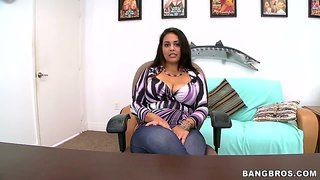 Busty prada xxx sucks cock in the office