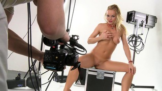 Enjoy Silvia Filming Her Next Sexy Scene From Behind Camera!