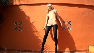 Skinny and very hot amateur bitch sasha shows her crazy and hot outdoor masturbation