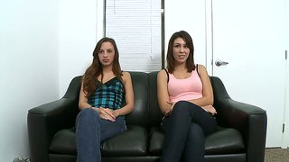 Jean taylor and natalie nunez in audition scene