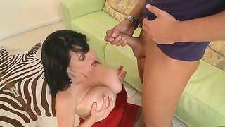 Busty Karen Kougar Is Teaching Young Rocco Reed Some Hardcore Lesson In Mature Loving