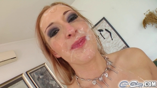 It's Five Cocks For Her And Their Cum Facials