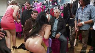 Sex Doll Fucked In A Clothes Store