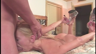 Blonde Teen Slut Gets Mouth Fucked And Ass Banged Hard