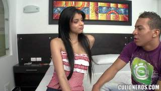 Black haired chica luchy shows her naughty bits eagerly