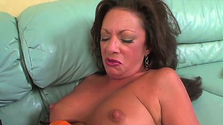 Margo Sullivan Was Masturbating Hard Her Lonely Pussy When Young Boy With Erected Cock Came