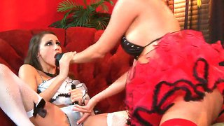 Naughty lesbian celeste star gets her brutal fucking punishment from fierce mistress samantha saint!
