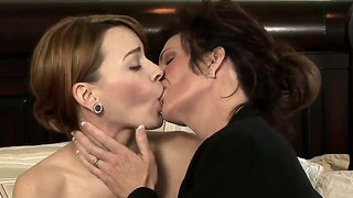 Horny Lesbian Workers Banging In A Cute Office Room.