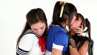 Katsuni, Risi Simms And Shyla Jennings Cosplaying Together