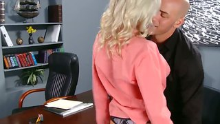 Derrick Pierce Was Caught Jerking On The Hidden Cams And Was Called By His Boss Emma To Visit Her Office