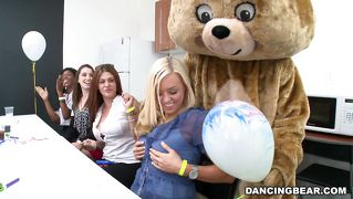 Furry In Bear Costume Gets Dick Sucked