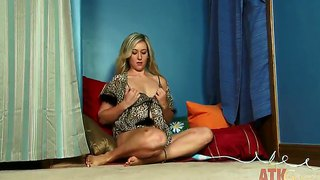 Blonde Lilly Banks Is Really Playful This Night On The Bed