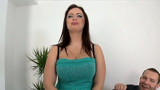 Glorious Alluring Brunette Chick Sirale With Huge Melon Tits Succeed In Interview