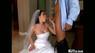 Horny Bride Mindy Main Is Desperate For A Cock