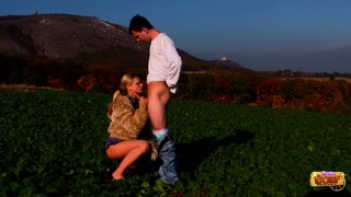 Agata and karel out on the farm trading head and banging pussy