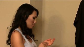 Asa Akira Giving Him More Than Just A Massage